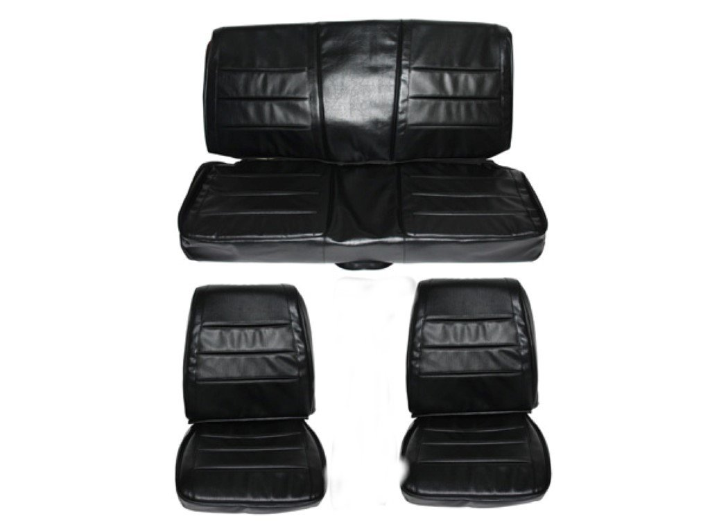 7719-BUK-100 1968 Charger Front Bucket Rear Bench Seat Cover Set