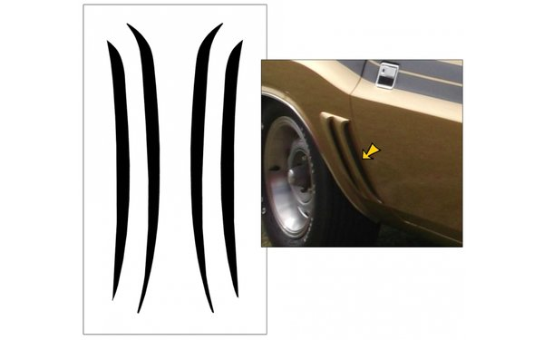 1971 Dodge Challenger Side Scoop Blackout Decals Set