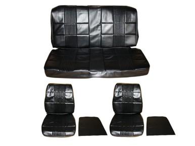 1968 Coronet 500 R/T Front Bucket Seat Rear Bench 7701-BUK