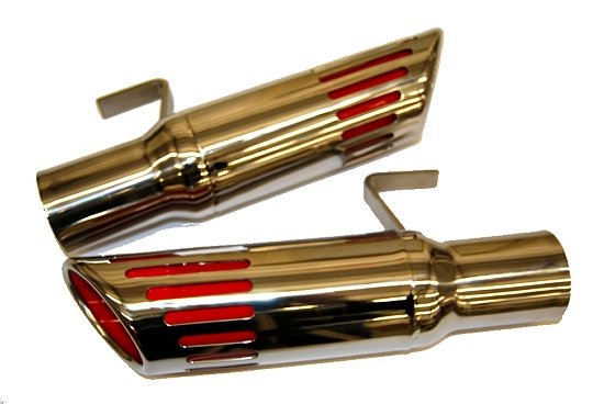 "1971-1972 B-Body Charger Road Runner Slotted Exhaust Tips 2.5"" inlet"