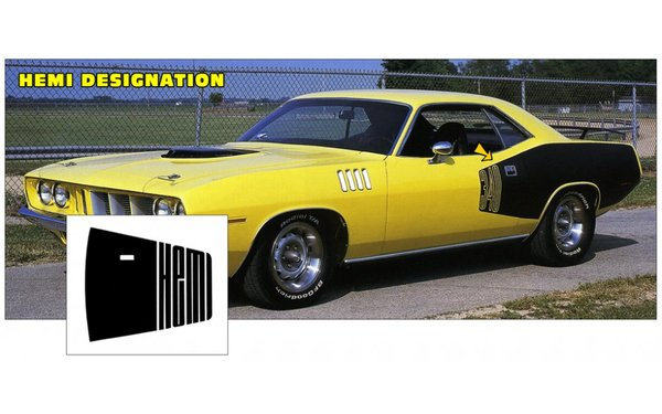1971 Plymouth Cuda' Billboard Stripes Kit-HEMI