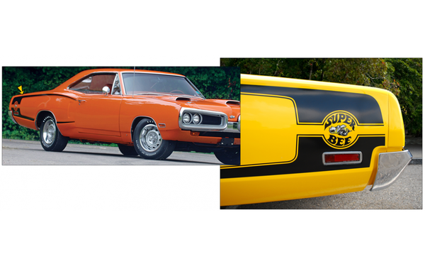 1970 Dodge Coronet Super Bee Reverse C-Stripes with Bee Logo