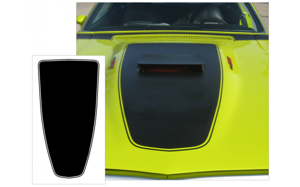 1971 Dodge Charger R/T Hood Blackout - No R/T Logo