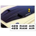 1971-73 Mustang / Boss - 429 Ram Air - Hood Decal Set