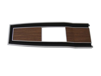 1969-70 B-body Diecast Woodgrain 4 Speed Console Top Plate