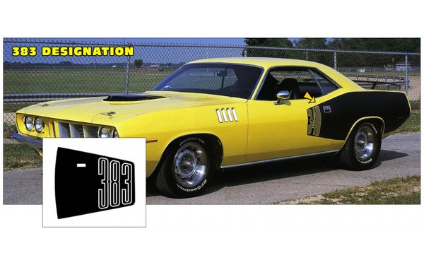 1971 Plymouth Cuda' Billboard Stripe Kits 383