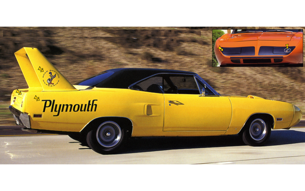 1970 Plymouth Superbird Complete Decals Stripes Kit