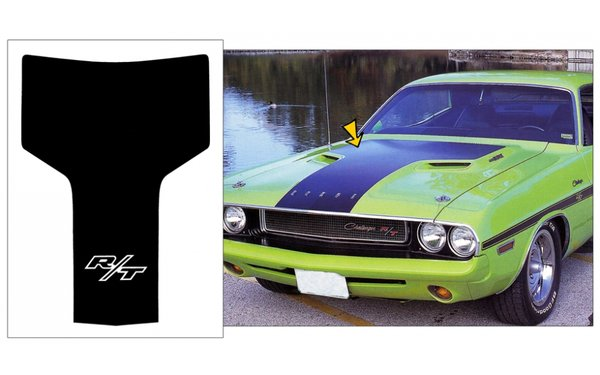 1970 1971 Dodge Challenger R/T Hood Blackout Stripe Comes with R/T Logo