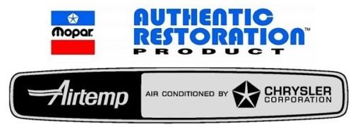 Chrysler Dodge Plymouth ALL Air Temp Right Rear Window Decal