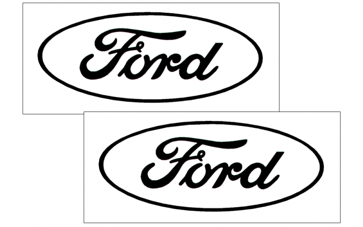 ford oval logo decal set - open style