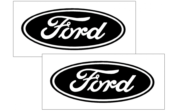 ford oval logo decal set - solid style