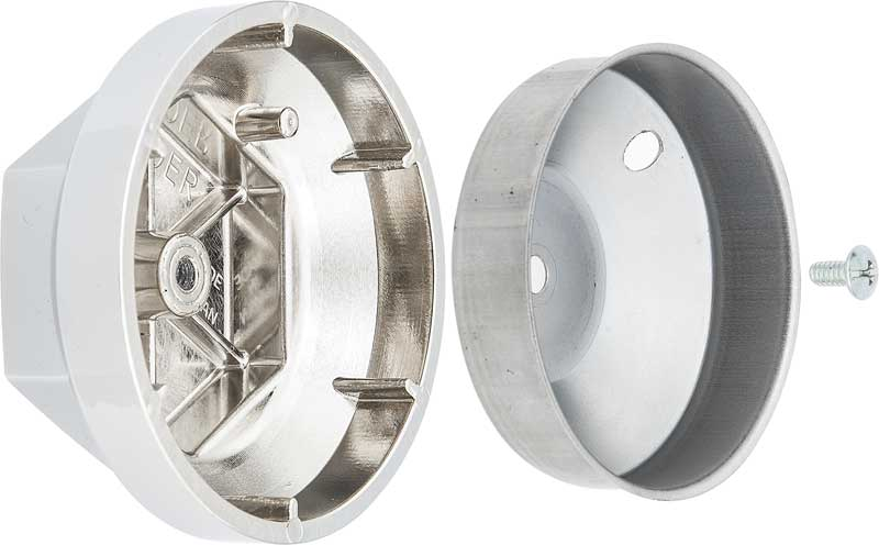 "Hex Style 2 Piece Chrome Wheel Center Cap for Alloy Wheel with 2-1/2"" Center Bore"