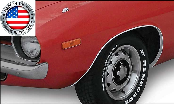 1970-1974 Plymouth Cuda Wheel Opening Trim Moldings Package