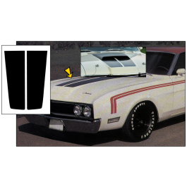 1969 Mercury Cyclone Hood Stripe Kit - W-Nose Hood Scoop