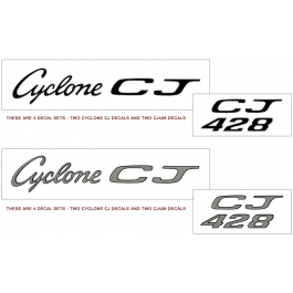 *1969 Mercury Cyclone CJ 428 Decal Kit