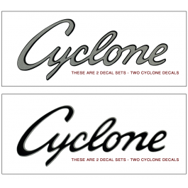 1969 Mercury Cyclone Quarter panel Decal Set
