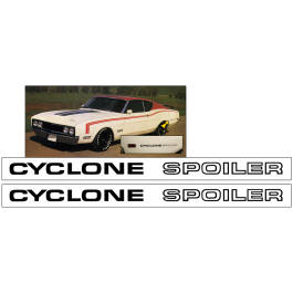 1969 Mercury Cyclone Spoiler Body Lettering Decal Set