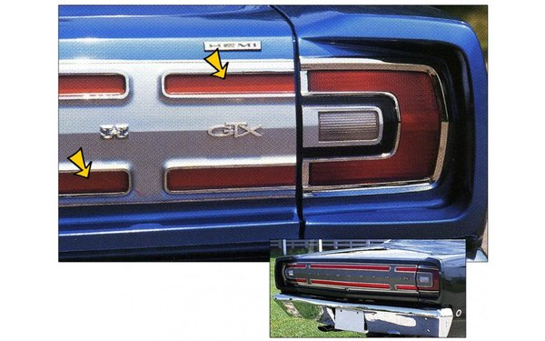 1968 Plymouth GTX Tail Stripe Kit