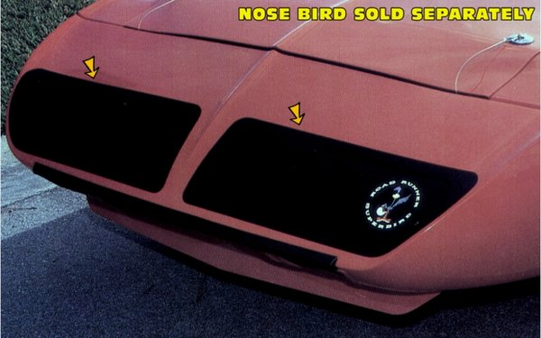 1970 Plymouth Superbird Nose Blackout Stripes Decals Kit
