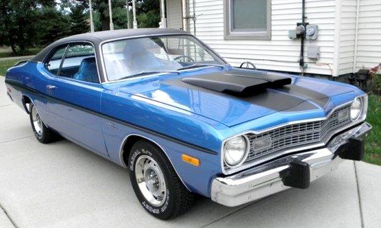 1973-74 Dodge Dart Sport Hood Blackout Decal Stripe