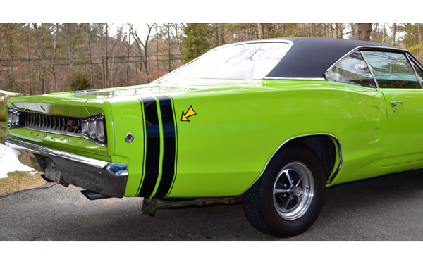 1968 Dodge Coronet Bumble Bee Tail Stripes Kit
