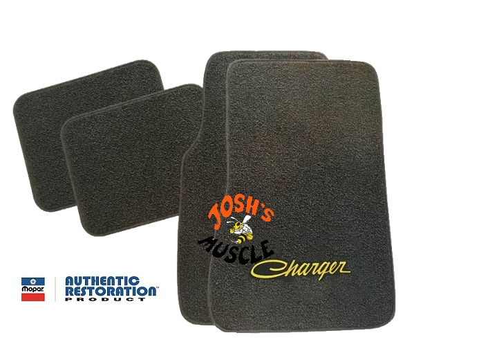 1968 1970 Dodge Charger 4 Piece Floor Mats With Logos