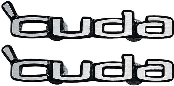 1970 1971 1972 1973 1974 Cuda Door Nameplate Emblems Set