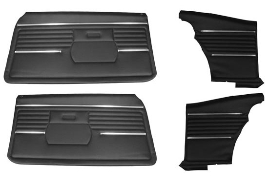 1971-1972 Chevy Impala Front Doors & Rear Quarter Trim Panels