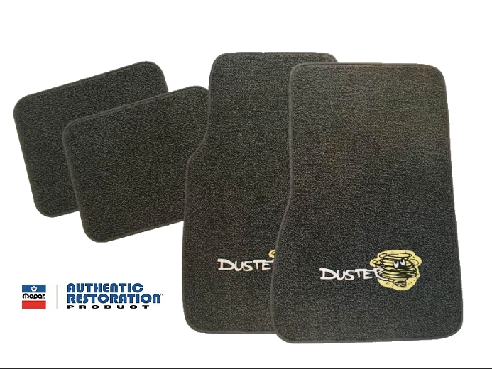 1970 1976 Plymouth Duster 4 Piece Floor Mats With Logos