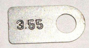8-3/4 Axle Tag 3.55 Gear Ratio Mopar