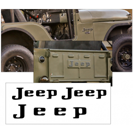 1972-74 Jeep Fender and Tailgate Letter Decal Set