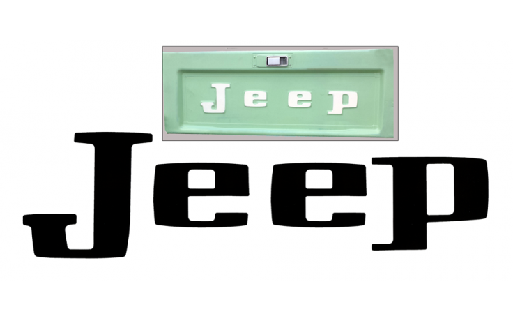 1963-88 Jeep - J10 J-Truck Tailgate Letter Decal Set