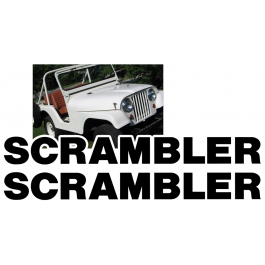 Jeep Hood Decal Lettering Kit - SCRAMBLER Name