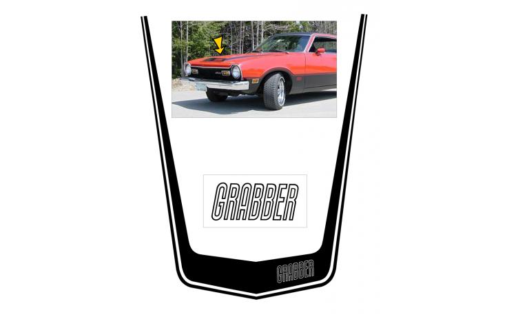 *1973-75 Ford Maverick Grabber Hood Decal