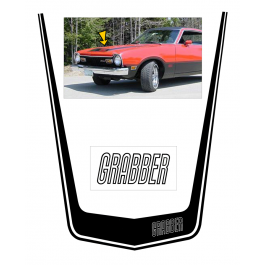 *1973-75 Ford Maverick Grabber Hood Decal