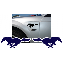 """Mustang Solid Pony Decal Set - 3"""" x 7.5"""""""