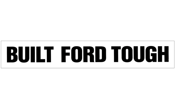 Built Ford Tough Windshield Decal