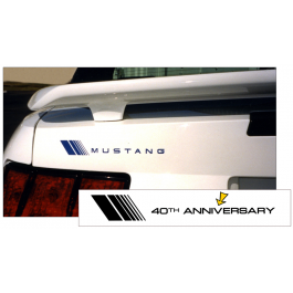 2004 Mustang Fader Trunk Decal - 40TH Anniversary