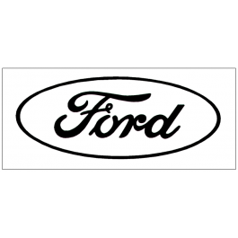 "Ford Oval Logo Decal - Open Style - 4"" Tall"