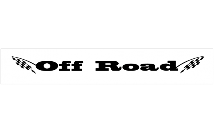 off road with flags windshield decal
