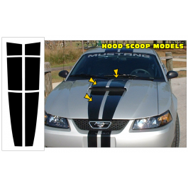 Roush mustang dual hood scoop strips