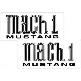 """2003-04 Mustang Mach 1 Mustang Side Body Decal Set - 4.5"""" x 10"""""""
