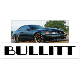 "2001 Mustang Bullitt Windshield Decal - 3.75"" x 30"""