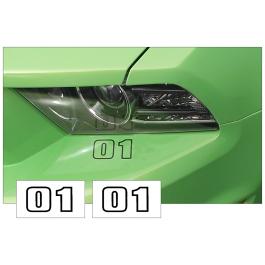 *1965-2014 Mustang Custom Bumper Two Digit Number Set