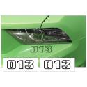 *1965-2014 Mustang Custom Bumper Three Digit Number Set