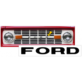 1966-77 Ford Bronco Grill Letter Decal Set
