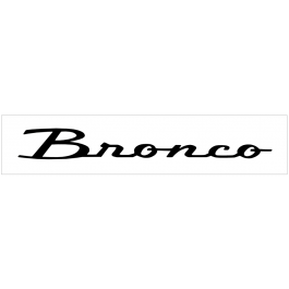 "Ford Bronco Windshield Decal - 4"" x 33"""