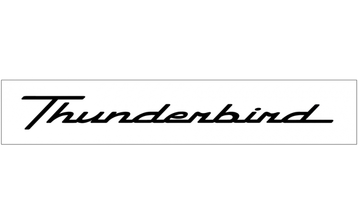 ford thunderbird windshield decal