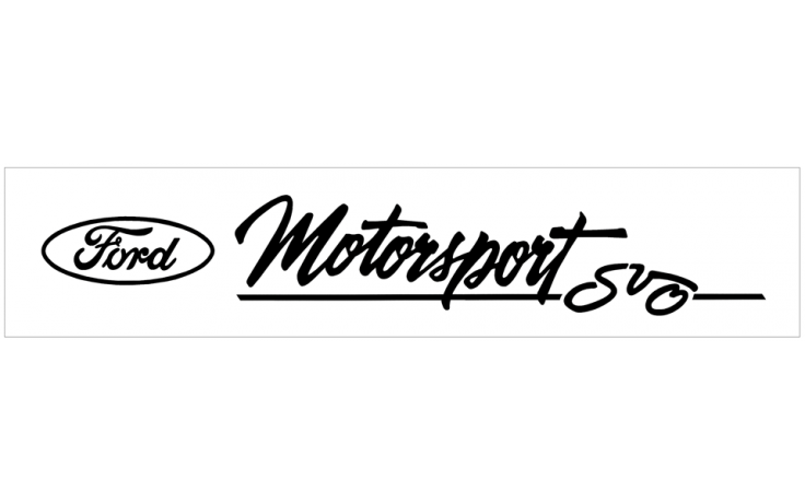 ford oval motorsport svo decal