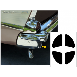 1957 Chevy Bel Air Rear Chrome Bumper End Insert Decals